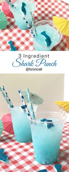 Shark Party Punch - Liz on Call Make your shark week viewing parties extra fun with this easy shark party punch. Guests of all ages will love sipping on this easy party punch recipe perfect for shark week or a hot summer day. Shark Party Foods, Shark Snacks, Boy Birthday Parties, 2nd Birthday, Birthday Ideas, Frozen Birthday, Shark Week, First Birthdays, Baby Shark