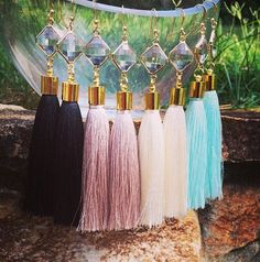 Silk Tassel earring by BetsyPittardDesigns on Etsy