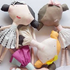 Make your own doll with printed fabric!