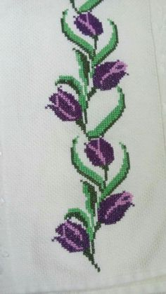 Tulips cross stitch.