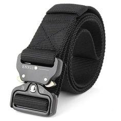 Russian army navy belt ultrastrong black nylon strap metal buckle original new
