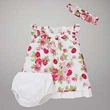 Buy Emile et Rose Cala Dress, #Knickers & #Headband with Plush #Toy, Pink/White.  Shop at www.kidstart.co.uk and get Kidstart savings back for your kids!