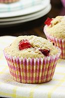 Healthy Breakfast Recipes: Wholemeal Red Plum Muffins. #HealthyRecipes #DietRecipes #WeightlossRecipes weightloss.com.au
