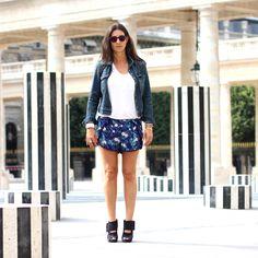 Spektre Sunglasses, Gas Bijoux Ring, Alexandra Margnat & Gas Bijoux Bracelets, Current Elliott Jacket, Acne Top, H&M Shorts, Pierre Hardy Shoes
