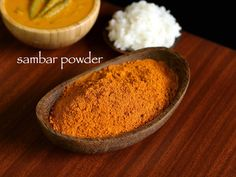 sambar powder recipe, homemade sambar masala podi with step by step photo/video. spice powder added to lentil based soup with vegetables to authentic sambar Indian Snacks, Indian Food Recipes, Gourmet Recipes, Vegetarian Recipes, Snack Recipes, Healthy Recipes, Ethnic Recipes, Dinner Recipes, Podi Recipe
