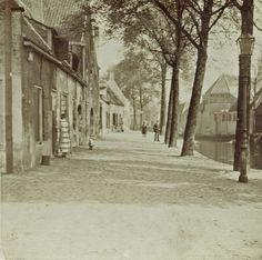 De Jan van Polanenkade aan het einde van de negentiende eeuw. Halverwege links het pakhuis van de Pelmolen, rechts het water van de rivier de Mark. (Beeldcollectie Stadsarchief Breda)