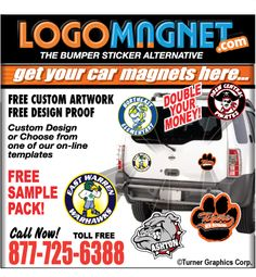 Car Magnets Personalized Custom Car Magnets Made In USA - Custom car magnets for schools
