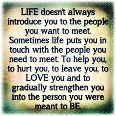 life doesnt always introduce you to the people