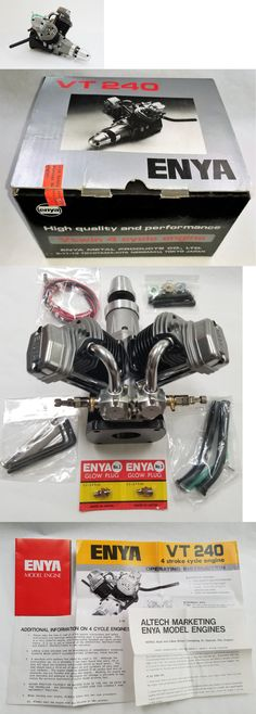 Motor and Engine Parts and Accs 182193: *New* Enya Vt-240 V Twin Air Cooled Engine For Rc Model Airplane Nitro Fuel ~ -> BUY IT NOW ONLY: $1295 on eBay!