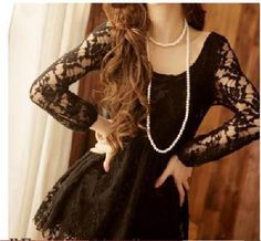Lace sleeves.