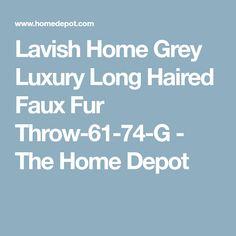 dc7e0da0ae Brown Luxury Long Haired Faux Fur Throw