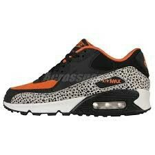 check out e3aa2 1dfb7 Nike Air Max 90 GS Safari Boys Shoes Sz Black orange 820340 100 for sale  online