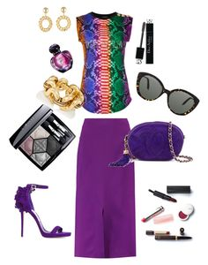 Ultra Violet by anya-nadtochiy on Polyvore featuring мода, Balmain, Roland Mouret, Jimmy Choo, Chanel, Moschino, Victoria Beckham and Christian Dior