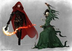 Pathfinder - Thrune Agent and Old One Cultist by TimKings-Lynne.deviantart.com on @DeviantArt