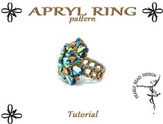 APRYL Ring with Silky beads pattern tutorial