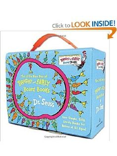 The Little Blue Box of Bright and Early Board Books by Dr. Seuss (Bright & Early Board Books(TM)) [Board Book] on Amazon 32% off today for $13.57 ON SALE & eligible for FREE Super Saver Shipping find more at www.ddsgiftshop.com like us on facebook here www.facebook.com/pages/Amazon-Deals-for-Baby-and-Kids/133650136817807