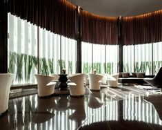 Rhythm Sukhumvit 44/1 by AP | Wison Tungthunya & W Workspace Lobby Reception, Condominium, Valance Curtains, Space, Home Decor, Floor Space, Decoration Home, Room Decor, Home Interior Design