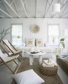 White beach house interior