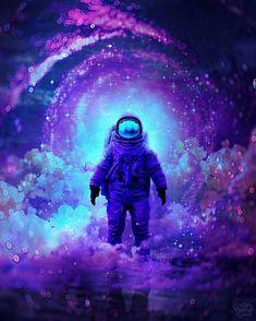 Finally Home by ThinkLumi : ImaginaryMindscapes Space Artwork, Wallpaper Space, Galaxy Wallpaper, Wallpaper Backgrounds, Galaxy Painting, Galaxy Art, Galaxy Phone, Cãezinhos Bulldog, Marshmello Wallpapers