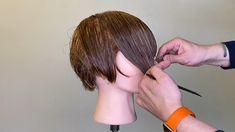 Hair Cutting Videos, Hair Cutting Techniques, Hair Videos, Messy Bob Hairstyles, Mom Hairstyles, Short Bob Haircuts, Short Hair Cuts, Short Hair Styles, Haircut Parts