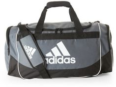 ebbdcf902c6c adidas Grey   Black Defense Medium Duffel Bag Duffel Bag