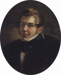 Portrait of an Architect M.O. Lopyrevskiy, 1836 Karl Bryullov