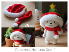 Santa Cloud is Coming to Town :D http://fluffyhouse.bigcartel.com/product/christmas-hat-scarf