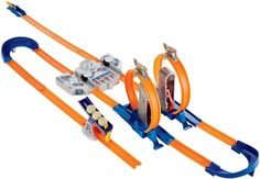 http://Amazon.com?utm_content=bufferbd894&utm_medium=social&utm_source=pinterest.com&utm_campaign=buffer: Hot Wheels Track Builder Total Turbo Takeover Track Set: Toys & Games
