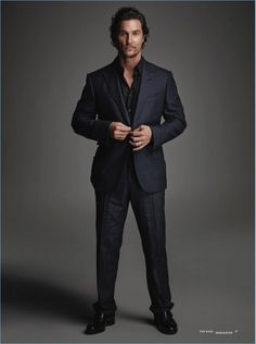Suiting up, Matthew McConaughey graces the pages of The Rake Turkey.