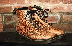 RARE Vintage 1980s Leopard Print Doc Martens  —my favorite shoes ever. glad I never got rid of them