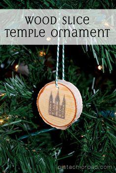 Wood Slice Temple Ornament {LDS Handmade Christmas Ornament}