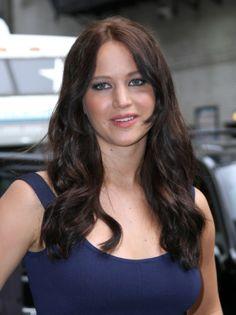 Jennifer Lawrence Dark Hair   jennifer- awrence blue dress dark hair 2013 « Hairstyles, Celebirity ...