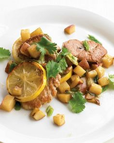 QUICK PORK RECIPES: Pan-Seared Pork with Potatoes and Lemon