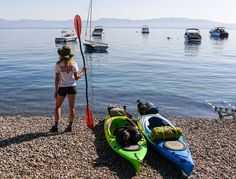 """Twice a year, my husband Nick and I like to plan one adventure to rule all other adventures. This summer's conquest? Kayaking and camping around Lake Tahoe."" (Laura Lawson Visconti, explorer, photographer) Read all about the Visconti's kayak excursion, now on the blog."