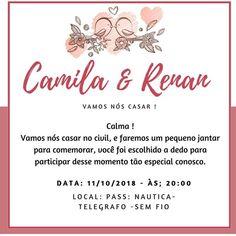 c61f961b73 Convite para Almoço de Casamento – Casamento Civil – Modelos de Convite