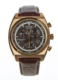 Citizen Eco-Drive is powered by light, so it never needs a battery. Case depth: 12mm Case diameter: 42mm Case: Stainless Steel Strap: Brown leather Strap width: 20mm Water resistance: 100 metres RRP £249.00 Our price £199.00 www.hogiesonline.co.uk - CITIZEN MEN'S BL8123-03E CALIBRE 8700 ALARM ROSE GOLD PLATED ECO-DRIVE WATCH, £199.00 (http://www.hogiesonline.co.uk/citizen-mens-bl8123-03e-calibre-8700-alarm-rose-gold-plated-eco-drive-watch/)