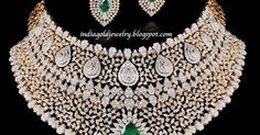 Bridal Diamond Necklace set from Gehna Jewellers
