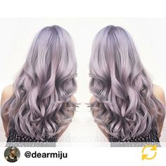 RG @dearmiju: Color Melt using @fanola_usa. Lilac + Silver.#dearmijuhair #hotonbeauty @hotonbeauty Thank you @salon_guys for making us aware of this wonderful hair artist!