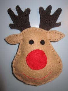Rudolph Felt Christmas Ornament. $6.00, via Etsy.