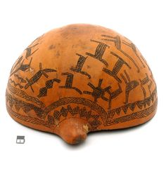 Africa | Calabash vessel from the Nuer people of the Ayod region of Sudan | 20th century
