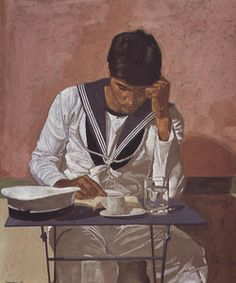 Mariner reading on pink background - (Yiannis Tsaroychis)
