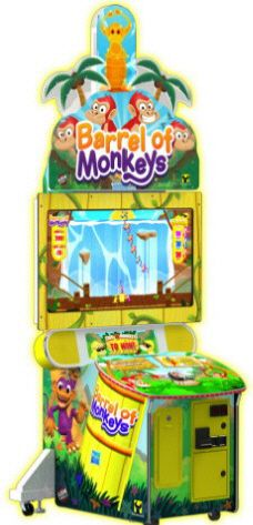 Barrel Of Monkeys Video Redemption Game | From Raw Thrills  |   Get more information about this game at: http://www.bmigaming.com/games-catalog-rawthrills.htm