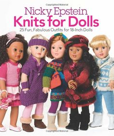 """Nicky Epstein Knits for Dolls Knitting Patterns 18""""Girl Clothes American Sweater   eBay"""