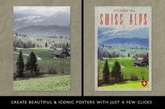 PosterPress for Photoshop by Ian Barnard on @creativemarket