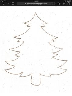 Christmas Tree Template to Print. Make use of this pattern to create Christmas tree ornaments using felt, craft foam, card board, and other things you are Preschool Christmas, Noel Christmas, Christmas Colors, Winter Christmas, Christmas Decorations, Christmas Ornaments, Christmas Tree Cut Out, Christmas Tree Silhouette, Father Christmas