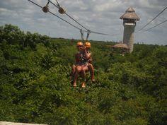 ziplining-- cancun, mexico