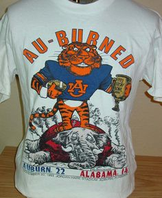 Vintage 1993 Auburn Tigers vs Alabama Iron Bowl t shirt Large by vintagerhino247…