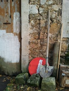 A rustic vignette at a gardener's stone building that I took in Pringy, France.