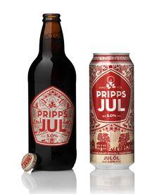 Pripps Julöl Beer Can and Bottle