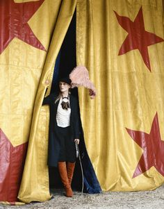 Circus star backdrop.